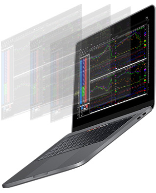 laptop running software